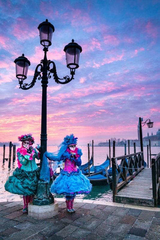 Laguna del amanecer de Venecia