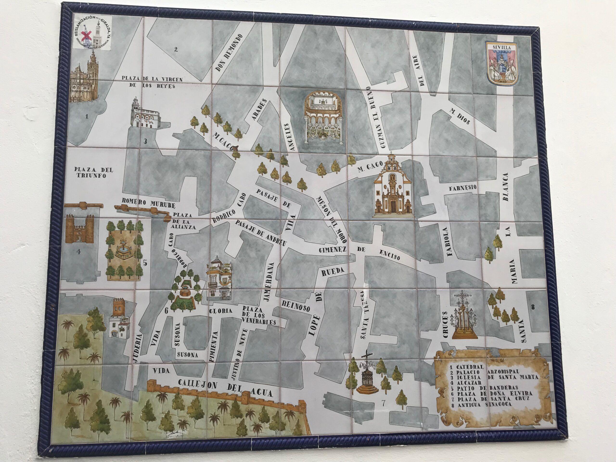 Street Map of Santa Cruz
