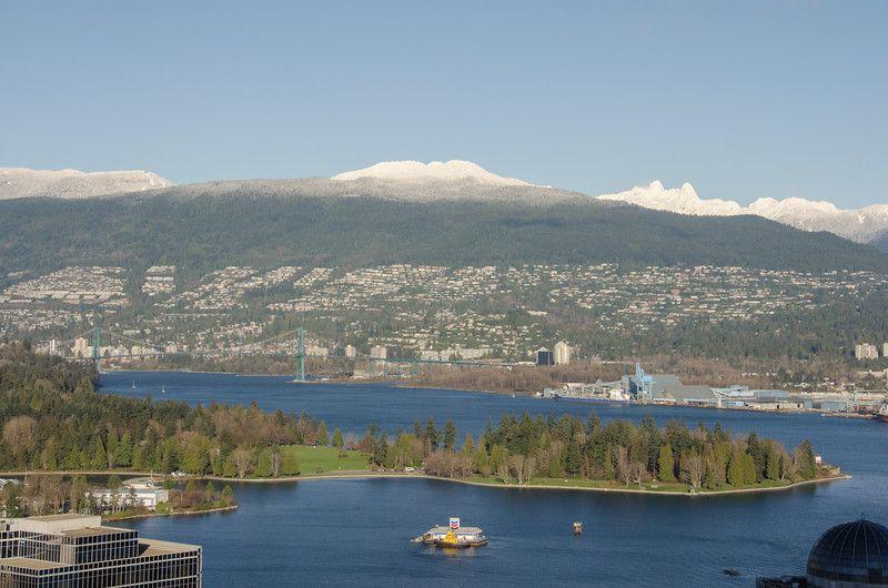 La vista desde el mirador de Vancouver en Harbour Centre | Invierno en Vancouver