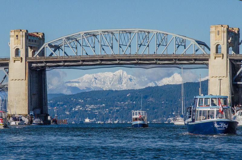 Vistas desde el ferry en False Creek, Vancouver | Invierno en Vancouver