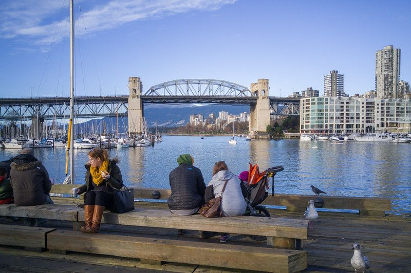 Vistas de Vancouver desde la isla de Granville | Invierno en Vancouver