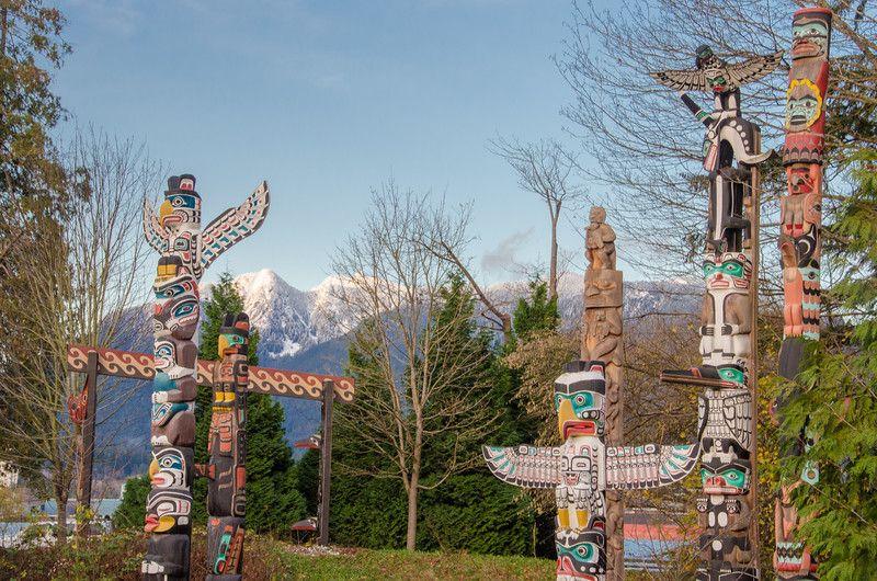 El colorido Totem Garden en Stanley Park, Vancouver | Qué hacer en Vancouver, BC