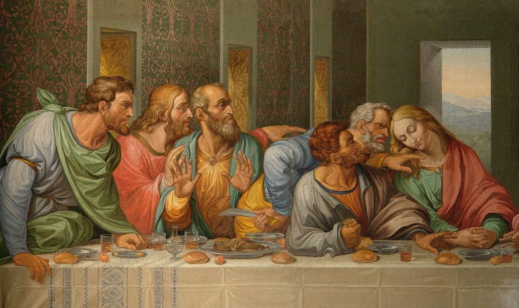 Pintura de la Última Cena de Da Vinci