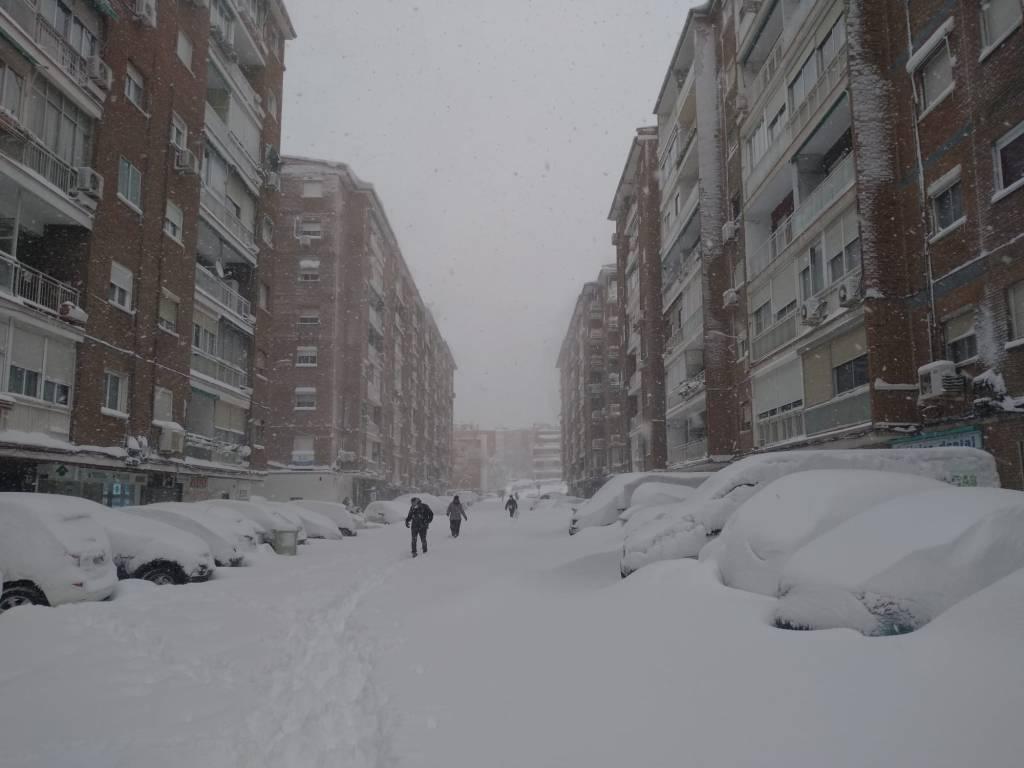 Fuertes nevadas en Madrid