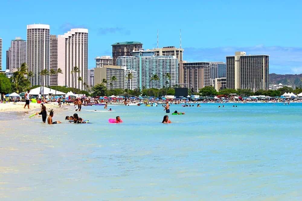 Swimming in Waikiki