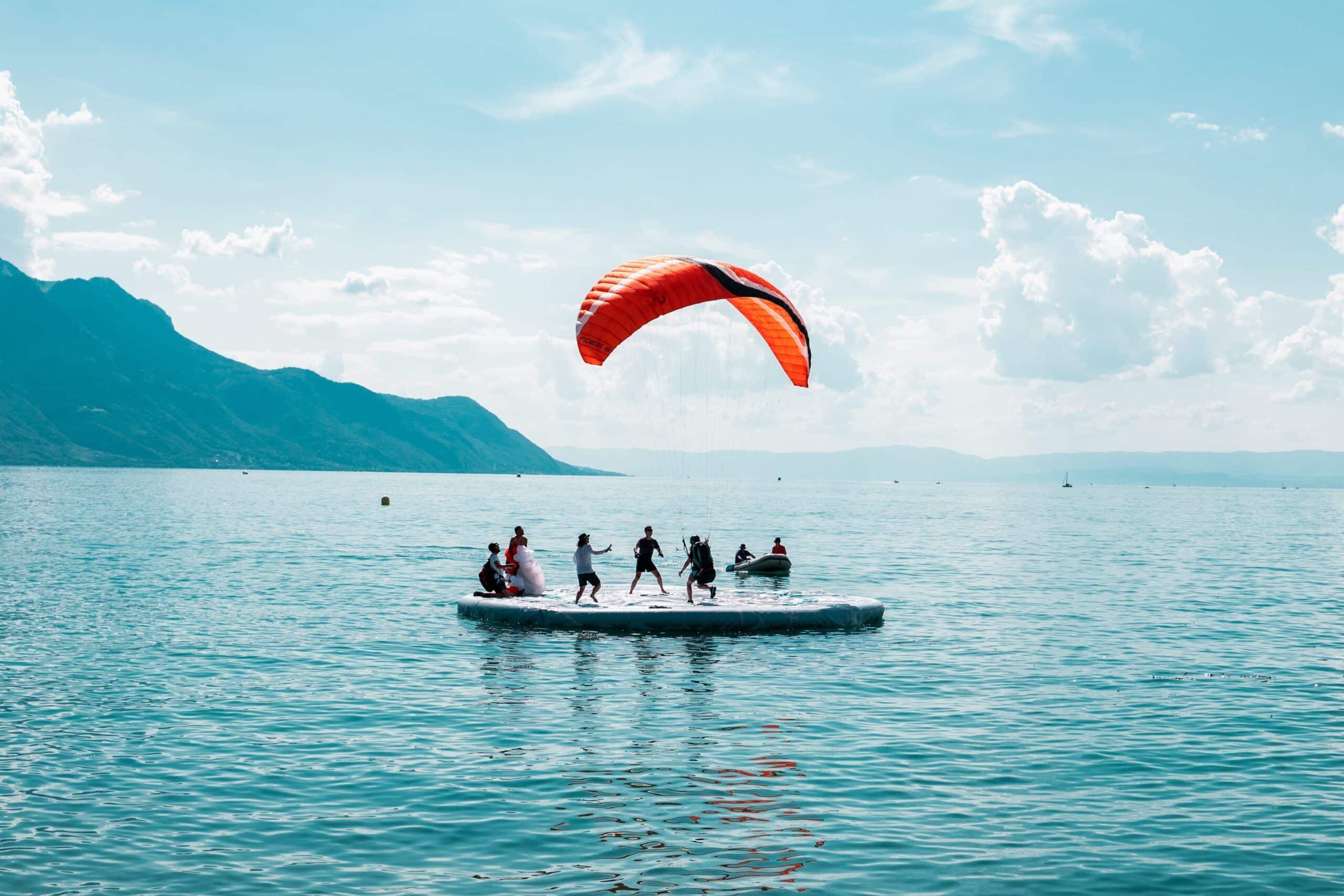 Tourists enjoying Switzerland