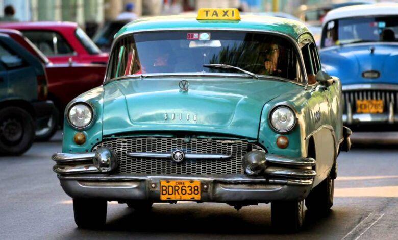 Taxi urbano en Cuba