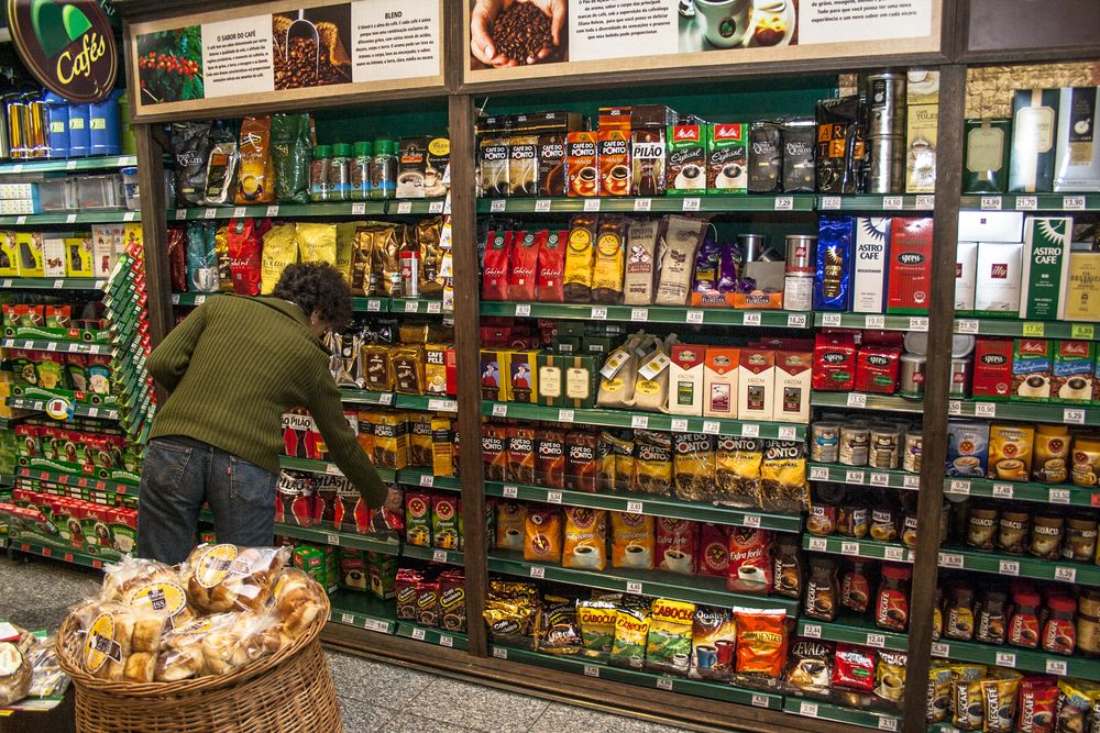 coffee in brazilian supermarket