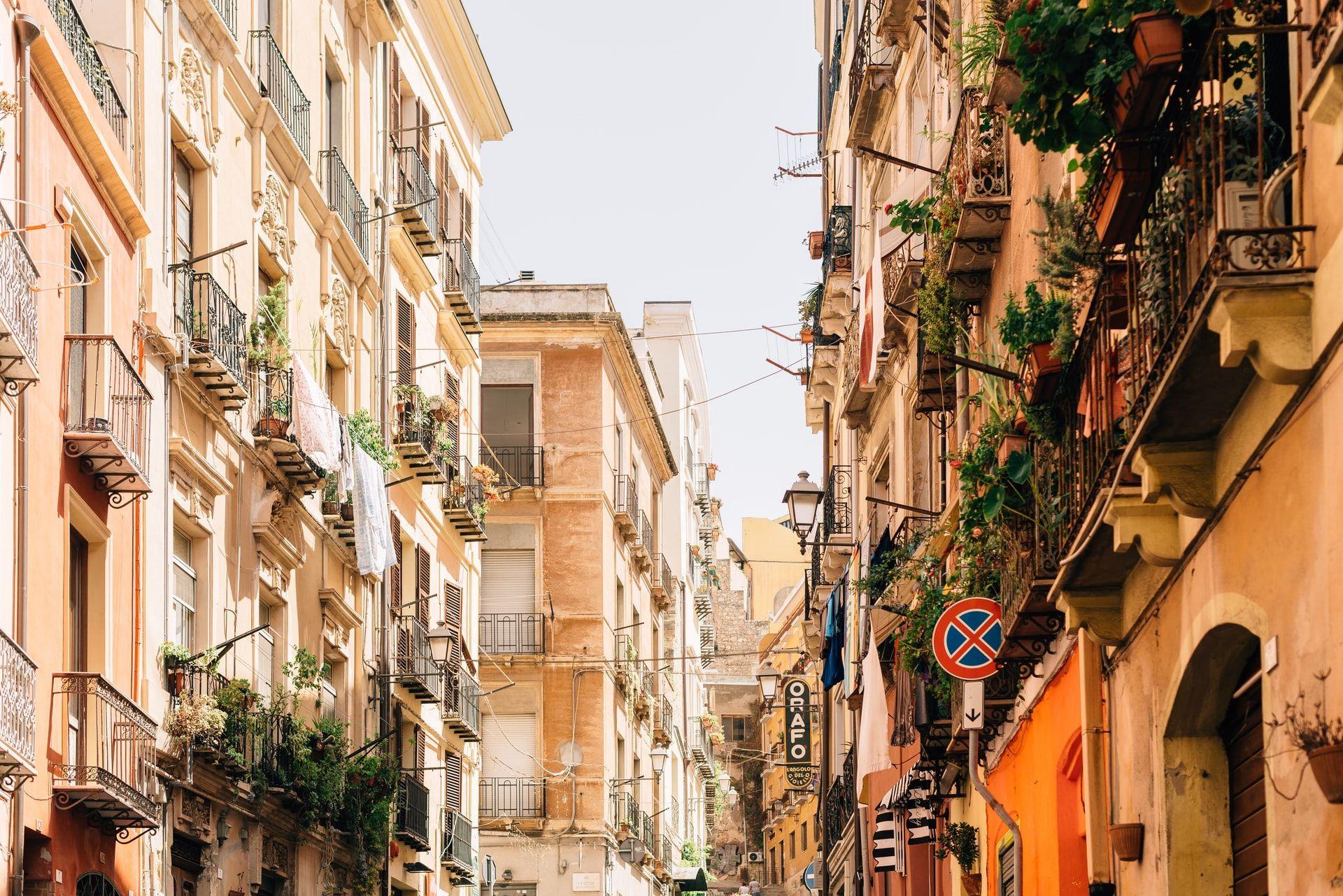 Lugares de interés en Cagliari, Cerdeña Italia