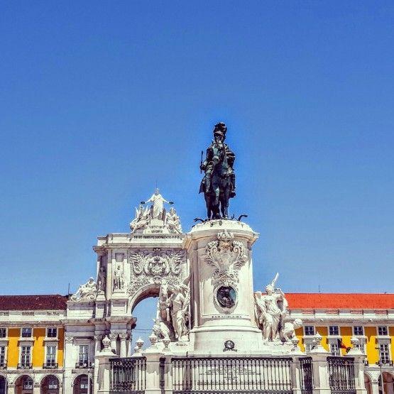 Palace Courtyard Downtown en Lisboa, Portugal.  Imagen de Lisboa con Pats.