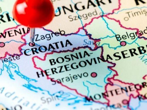 mapa de la costa de croacia