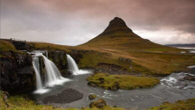 Fotografía de las cascadas de la isla Kirkjufell
