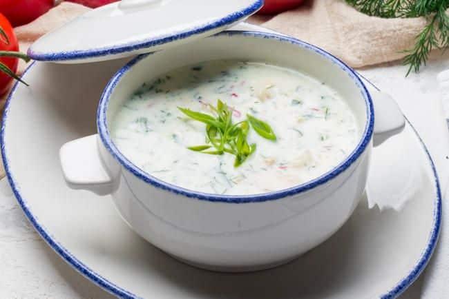 Receta de sopa fría de yogur de pepino